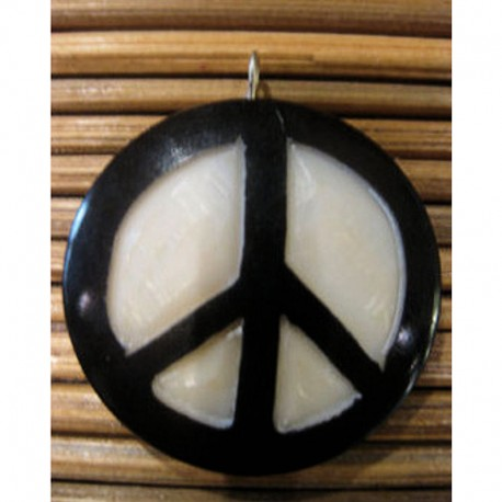 Pendentif peace and love